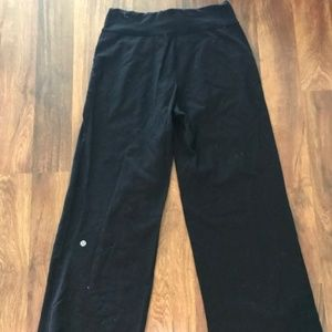 lululemon athletica Still Pant Size 4 Hemmed Black